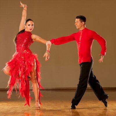 Fototapete Latino Dance Paar in Aktion - Tanzen wilden Samba