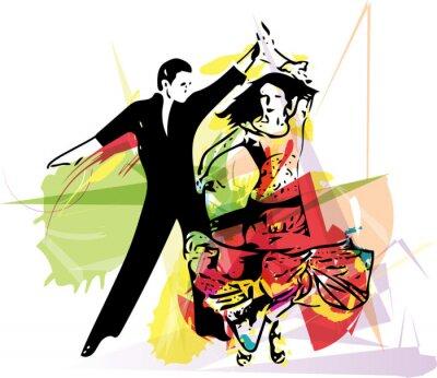 Fototapete Latino Dancing couple