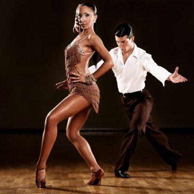 Fototapete Latino-Tanz Paar in Aktion
