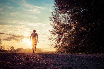 Fototapete Laufen auf dem Land
