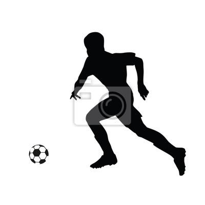 Laufen Fussballspieler Vektor Silhouette Fussballspieler