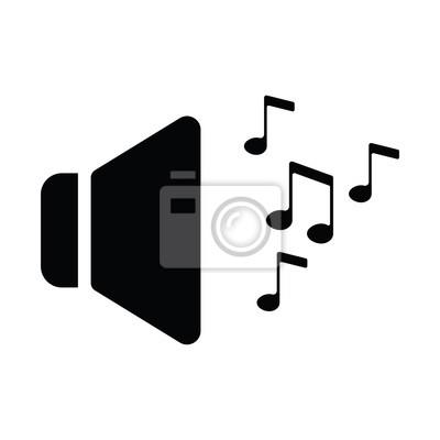 Lautsprecher-symbol fototapete • fototapeten lauter, Computer ...