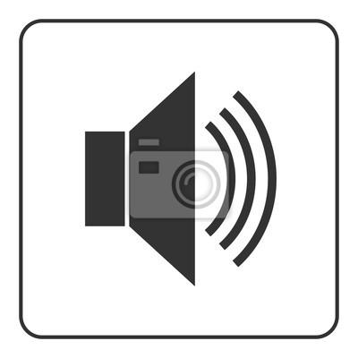 Lautsprecher-symbol mit wellen. black lautsprecher öffentlichen ...