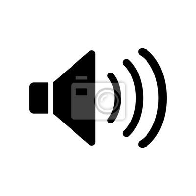 Lautsprecher-symbol, sound-symbol vektor fototapete • fototapeten ...