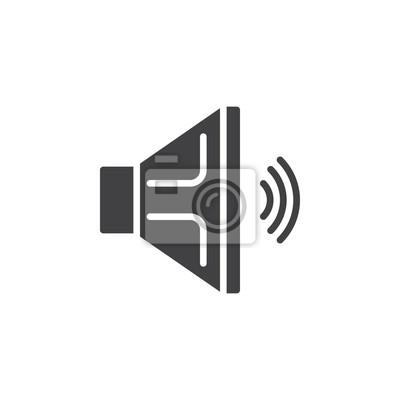 Lautsprecher-symbol vektor, gefüllt flache zeichen, solide ...