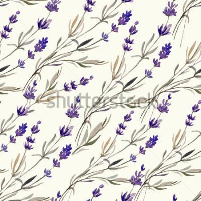 Fototapete Lavendel, Muster, Aquarell