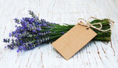 Fototapete Lavendelblüten mit Umbau