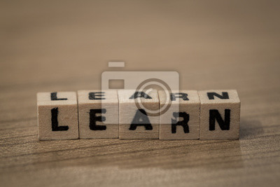 Learn in wooden cubes