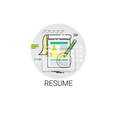 fototapete lebenslauf cv form job stellenausschreibung bewerbung icon icon illustration - Bewerbung Job