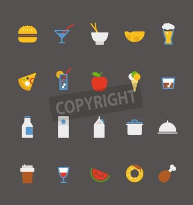 Lebensmittel-Ikonen-Sammlung Flache Design