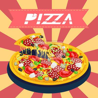 Leckere Pizza Retro