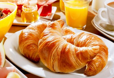 Fototapete Leckeres kontinentales Frühstück