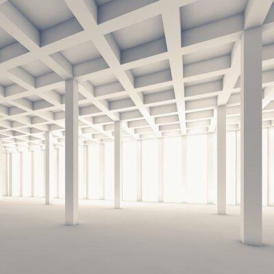 Fototapete Leere abstrakte Raum, Quadrat 3d Abbildung