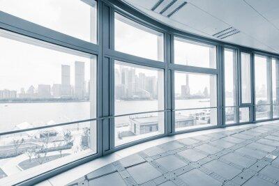 Fototapete Leere bürozimmer in modernen bürogebäuden