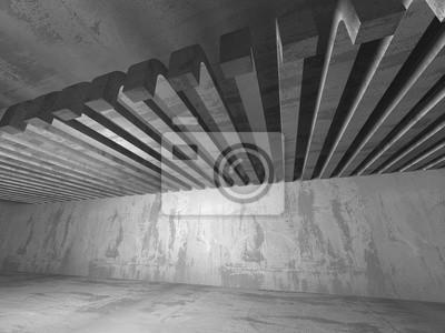 Beton In Interieur : Leere dunklen beton raum interieur architektur städtischen
