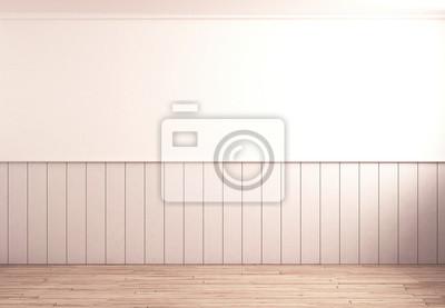 Fototapete: Leere küche mit holz-paneele
