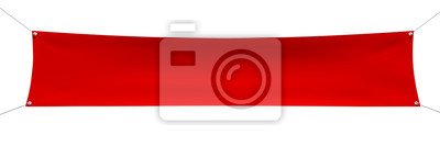 Fototapete Leere roten Banner mit Ecken Seile