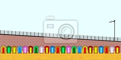 Leere Strandhütten