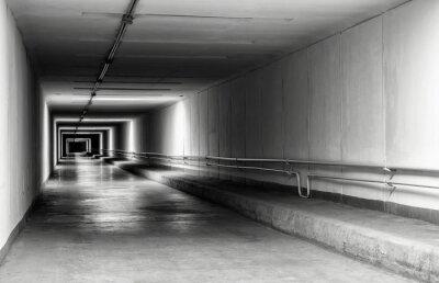 Fototapete Leere Tunnel in der Nacht