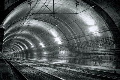 Fototapete Leere U-Bahn-Tunnel
