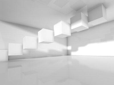 Fototapete Leere weiße Architektur, 3 d-Abbildung