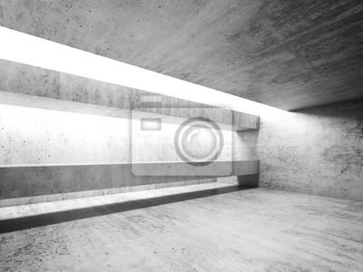 Fototapete Leere Weisse Beton Innenraum Moderne Architektur