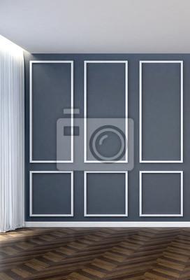 Muster Wohnzimmer | Leere Wohnzimmer Und Grauem Muster Wand Hintergrund Fototapete