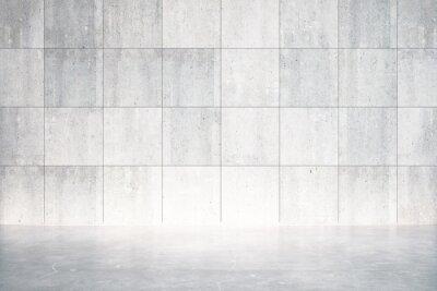 Fototapete Leere Zimmer mit Betonboden und Wand