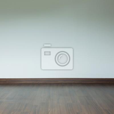 Fototapete Leeren Raum Innenraum, Braunen Holz Laminatboden Und Weißen  Mörtel