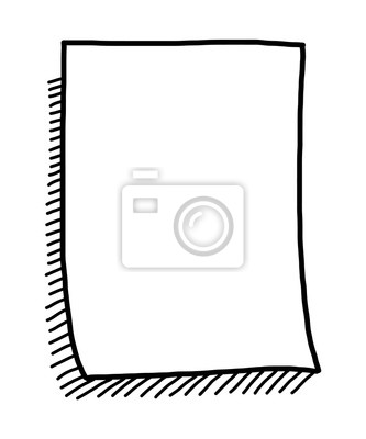 Fototapete Leeres Papier und Schatten / Cartoon Vektor und Illustration, schwarz und weiß, Hand gezeichnet, Skizze Stil, isoliert auf weißem Hintergrund.