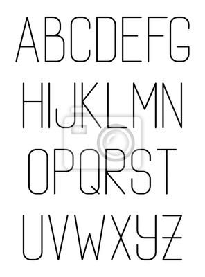 Leichte dünne Hand gezeichnet Schriftart. Vector Alphabet