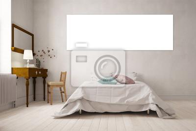 Leinwand als panorama an wand im schlafzimmer fototapete ...