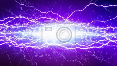Leistungsstarker elektrischer Hochspannungs-Kurzschluss, helle Blitze