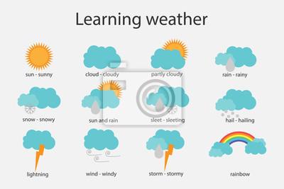 Lernwetter für kinder, spaßbildungsspiel für kinderentwicklung ...