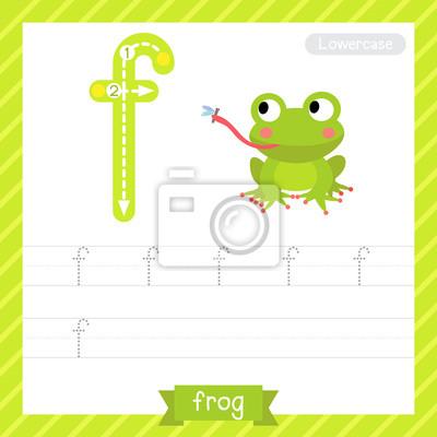 Letter f kleinbuchstaben übungsarbeitsblatt mit frosch für kinder ...