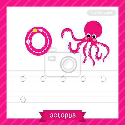 Letter o kleinbuchstaben übungsarbeitsblatt mit oktopus für kinder ...