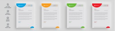 Fototapete letterhead corporate flyer official modern poster magazine advertising minimal abstract shape layout 4 color newsletter design with logo