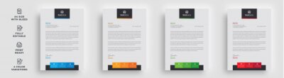 Fototapete letterhead flyer business corporate newest trendy professional unique newsletter magazine single poster template design with logo