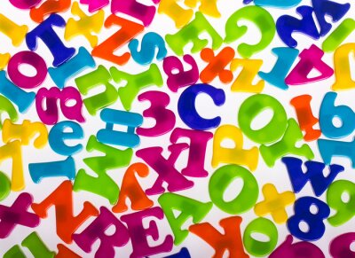 Fototapete Letters