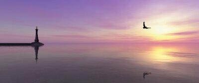 Fototapete Leuchtturm an der Küste