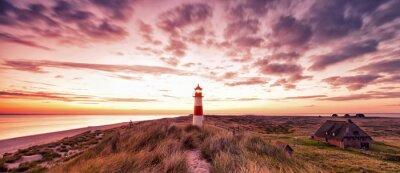Fototapete Leuchtturmpanorama Sylt