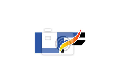 Enement Letter | Lf Logo Vector Graphic Branding Letter Element Fototapete