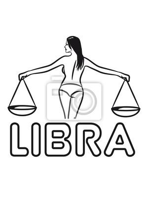 Libra Horoscope Zodiac Libra Girl Sexy Fototapete Fototapeten