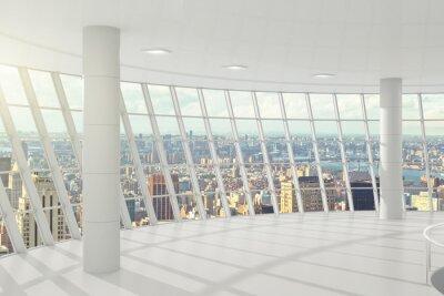 Fototapete Licht großes Büro mit Fenstern im Boden