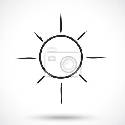 Licht, helligkeit, sonne, tag-symbol. wetter-symbol. fototapete ...