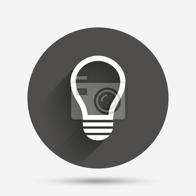 Licht lampe zeichen-symbol. idea-symbol. fototapete • fototapeten ...