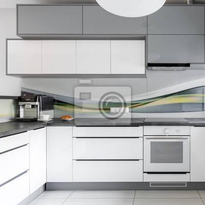 Licht moderne küche interieur fototapete • fototapeten Arbeitsplatte ...