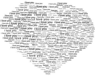 Liebe Form Typografie