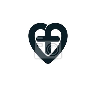 Liebe gottes konzeptionelles symbol in verbindung mit christlichem ...
