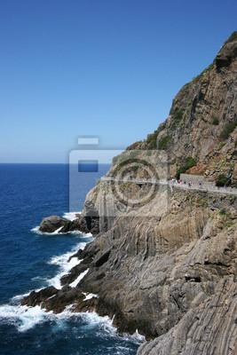 Liebe Straße in Cinque Terre in Norditalien, Europa